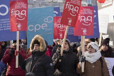 Représentantes ADIM-Montréal Manifestation